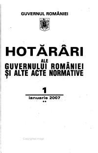 Hot  r  ri ale Guvernului Rom  niei   i alte acte normative PDF