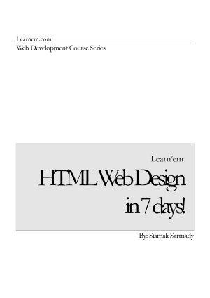 HTML Web Design in 7 Days
