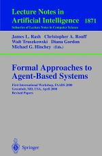Formal Approaches to Agent-Based Systems