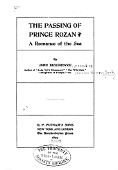 The Passing of Prince Rozan: A Romance of the Sea