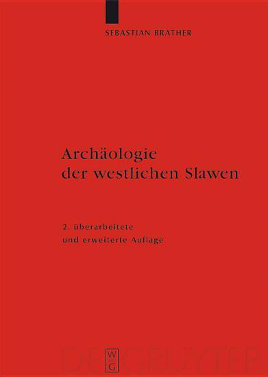 Arch  ologie der westlichen Slawen PDF