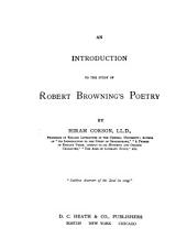 An Introduction to the Study of Robert Browning's Poetry