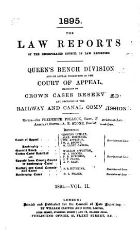 The Law Reports  Queen s Bench Division PDF