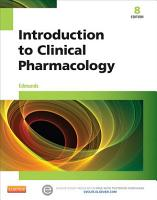 Introduction to Clinical Pharmacology   E Book PDF