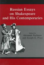 Russian Essays on Shakespeare and His Contemporaries