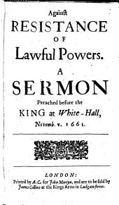 Six Sermons preached by the Right Reverend Father in God, Seth Lord Bishop of Sarum