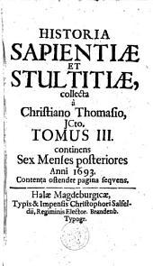 Historia sapientiae et stultitiae: Volume 3