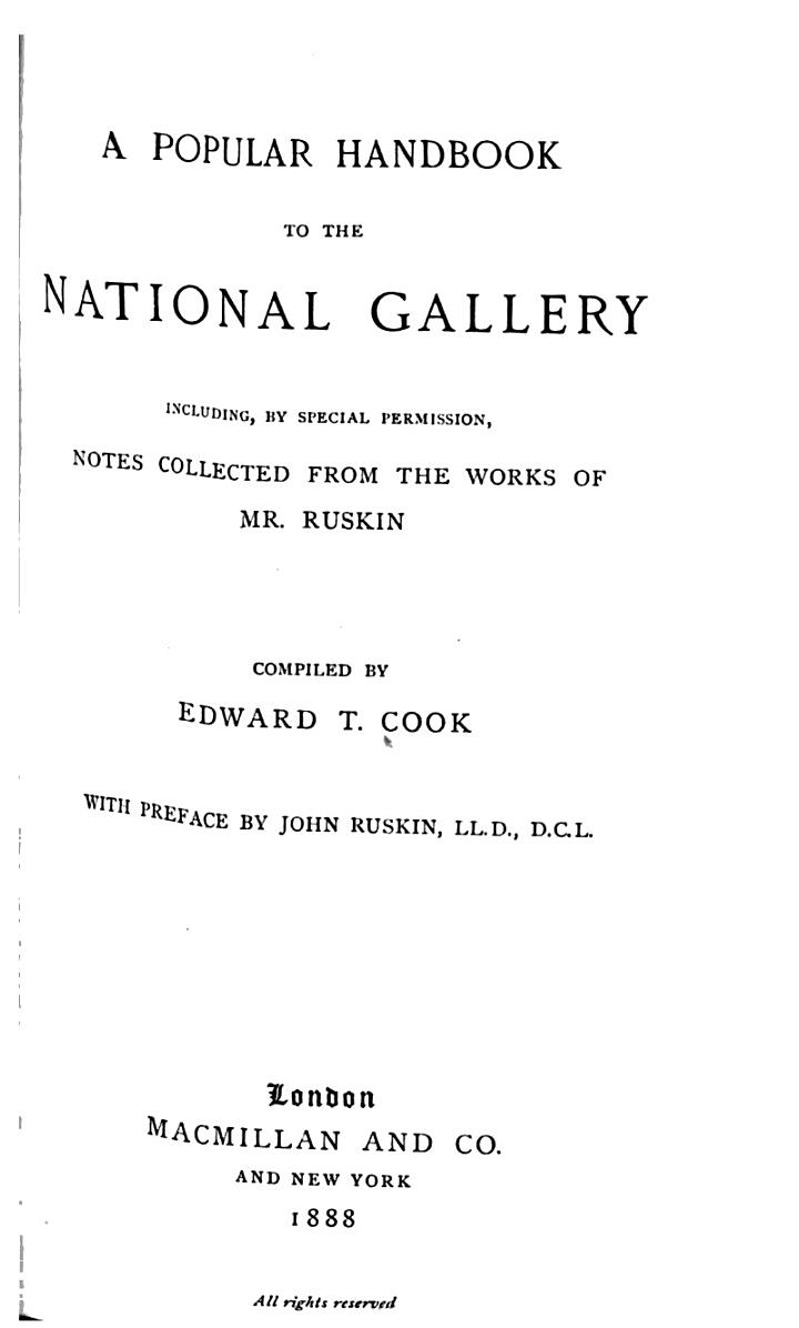 A Popular Handbook to the National Gallery