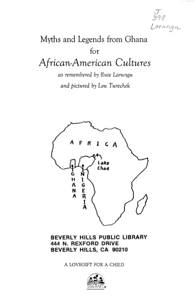 Myths and Legends from Ghana for African American Cultures PDF