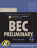 Cambridge BEC  Self study Pack  Student s Book with Answers and Audio CD  Preliminary 4 PDF