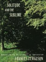 Solitude and the Sublime PDF