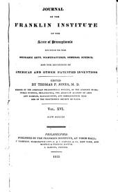 Journal of the Franklin Institute: Volume 16