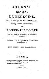 Journal général de médecine, de chirurgie et de pharmacie franc̜aises et étrangeres, ou, Recueil périodique de la Société de médecine de Paris: Volume83