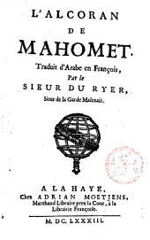 L'Alcoran de Mahomet