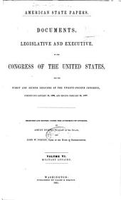 American State Papers: Documents, Legislative and Executive, of the Congress of the United States ..., Volumes 5-6; Volume 21