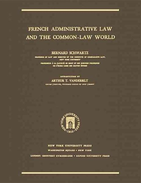 French Administrative Law and the Common law World PDF