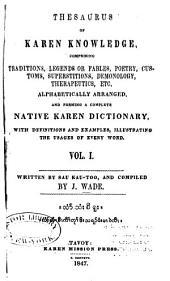 Thesaurus of Karen Knowledge ...