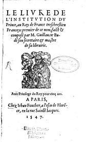 Le Livre de l'Institution du Prince