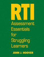 RTI Assessment Essentials for Struggling Learners PDF