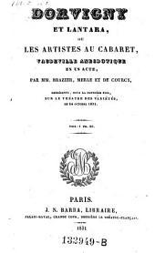 Dorvigny et Lantara, ou les artistes au cabaret, vaudeville anecdotique en 1 acte