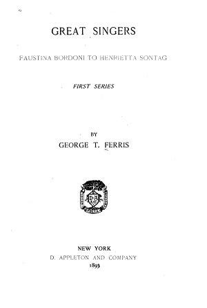 Faustina Bordoni to Henrietta Sontag