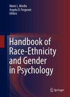 Handbook of Race Ethnicity and Gender in Psychology PDF