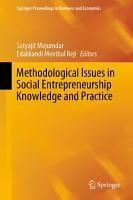Methodological Issues in Social Entrepreneurship Knowledge and Practice PDF