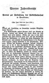 Jahresbericht des Vereins zur Verbeßrung des Volksschulwesens in Graubünden: Band 4