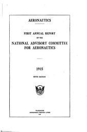 Annual Report - National Advisory Committee for Aeronautics: Volumes 1-2