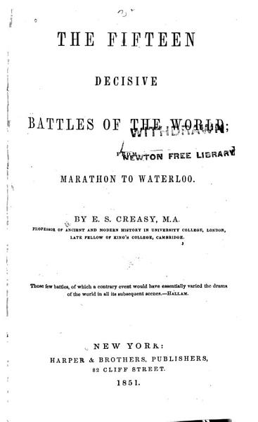Download The Fifteen Decisive Battles of the World Book