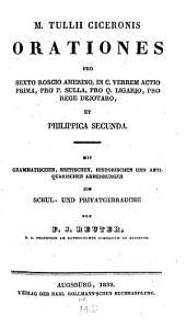 Orationes pro Sexto Roscio Amerino, in Verrem Act. I, pro P. Sulla ...