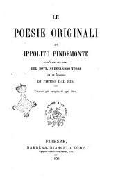 Le poesie originali di Ippolito Pindemonte pubblicate per cura del Dott. Alessandro Torri