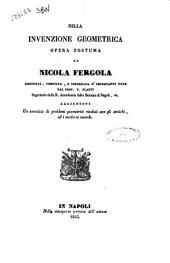 Della invenzione geometrica opera postuma di Nicola Fergola: 1