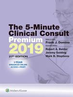 The 5 Minute Clinical Consult 2019 PDF