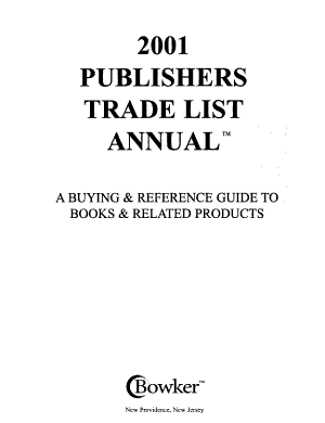 Publishers  Trade List Annual