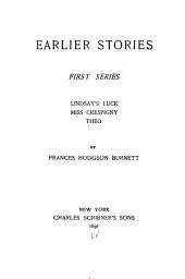 Earlier Stories: 1st-[2d] Series ..., Volume 1