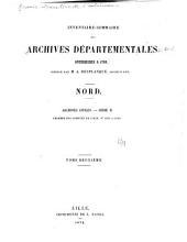 Inventaire sommaire des Archives départementales antérieures à 1790, Nord: Nos. 1561 à 1680