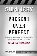 Summary of Present Over Perfect  Conversation Starters PDF