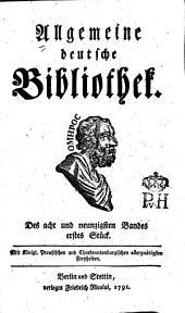 Allgemeine deutsche Bibliothek: Band 98