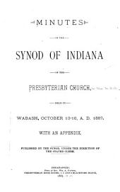 Minutes of the Synod of Indiana of the Presbyterian Church, Held in ...