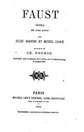 Faust: opéra en cinq actes