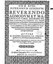 Odae XVIII diversorum generum, reverendo ... Domino Petro Stevartio Leodio ... consecratae: Adiunctis Carminibus congratulatoriis M. Edmundi Hollyngi Angli et Marci Antoniii Bouton ...