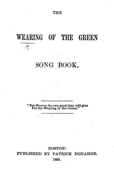 Download The Wearing of the Green Song Book Book