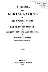 Bibltioteca Scelta del Foro Criminale Italiano, La Scienza Della Legislazione e Gli Opuscoli Scelti