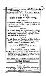 The Accomplish'd Practiser in the High Court of Chancery