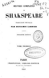 Oeuvres complètes de Shakspeare [sic]: Volume1