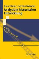 Analysis in historischer Entwicklung PDF