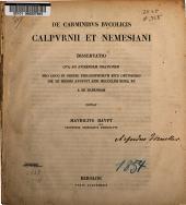 De carminibus bucolicis Calpurnii et Nemesiani