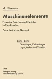 Grundlagen, Verbindungen, Lager Wellen und Zubehör: Ausgabe 3