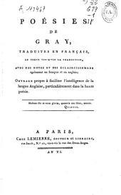 Poésies de Gray